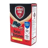 Raticida en cereal de alta eficacia y potente atracción para zonas secas, interiores y exteriores. Veneno para ratas y ratones.