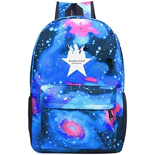 Hamilton-Sisters Travel Starry Sky Backpack Galaxy Shoulder Bags School Daypack Knapsack Women Men Blue