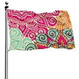 tenghanhao Flagge/Fahne Cool Colorful Mandala Flag 3x5 Feet Garden Flags for Outdoor Indoor Home Decor