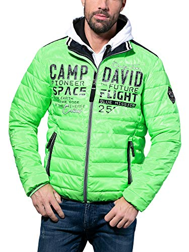 Camp David Herren Steppjacke mit Tapes und Artwork