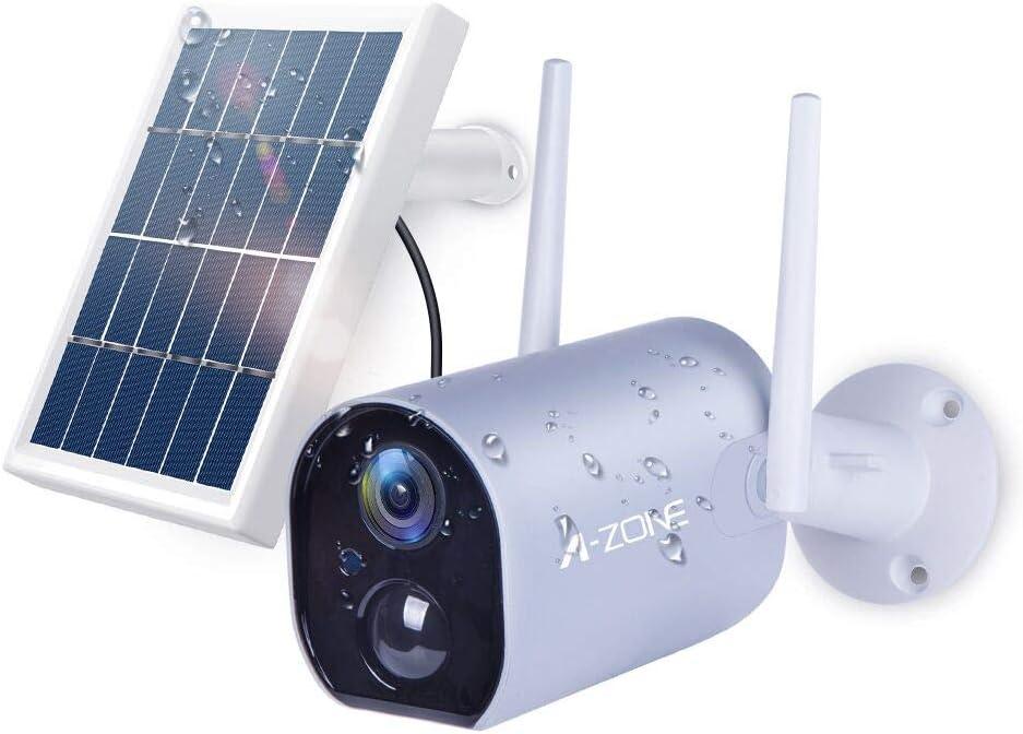 A-ZONE ソーラーパネル付き電池式カメラ AZ-SW-SC8