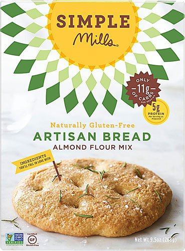 Simple Mills Almond Flour Mix New color Gluten Artisan Excellent Bread o 9.5 Free --