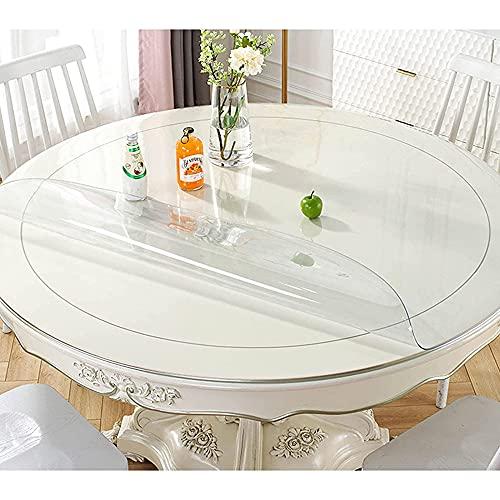 Mantel transparente, mantel limpiable de 3 mm de grosor, cubierta protectora transparente resistente para la mesa, que se utiliza para picnic, escritorio, fiesta/A / 120cm