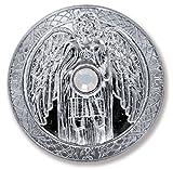 Moneda talismán Angel arcángel Gabriel Mundo mágico plateado con cristal, angel protector Taler 27 mm de diámetro