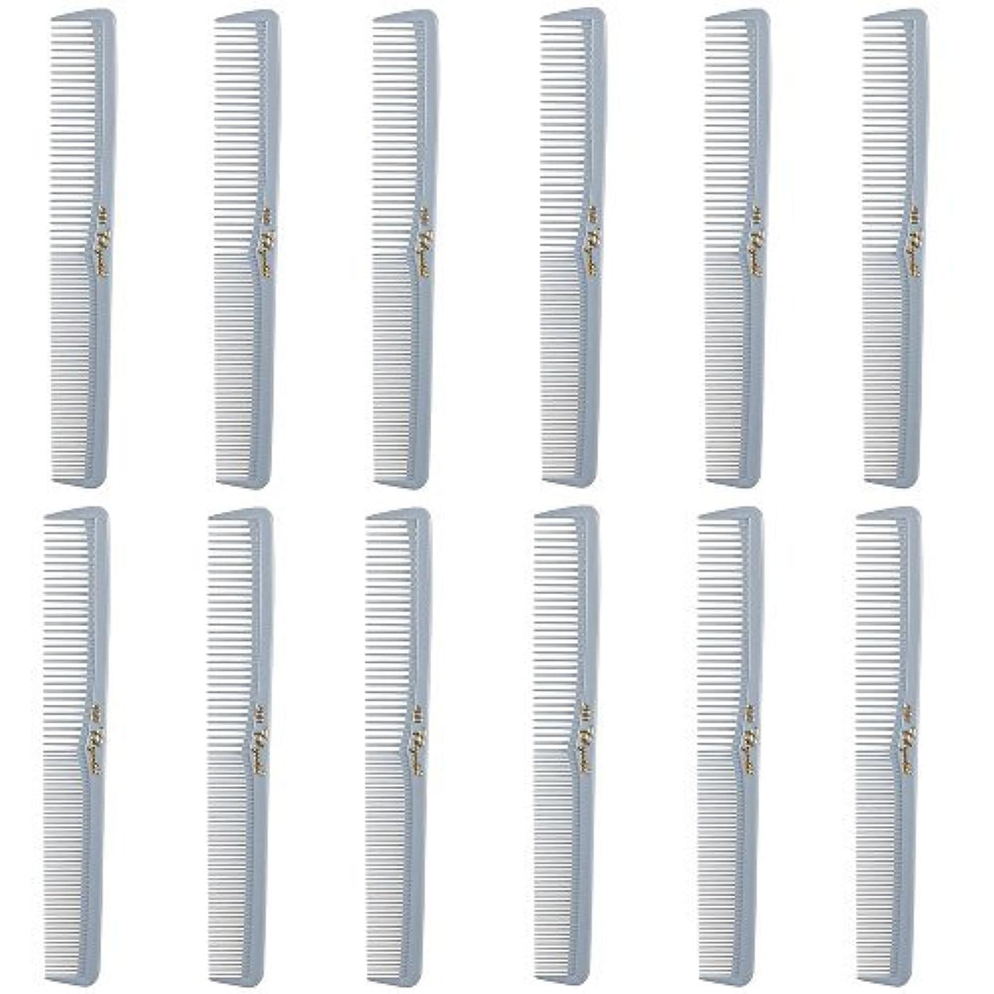 木ピラミッド属性Barber Beauty Hair Cleopatra 400 All Purpose Comb (12 Pack) 12 x SB-C400-LGREY [並行輸入品]