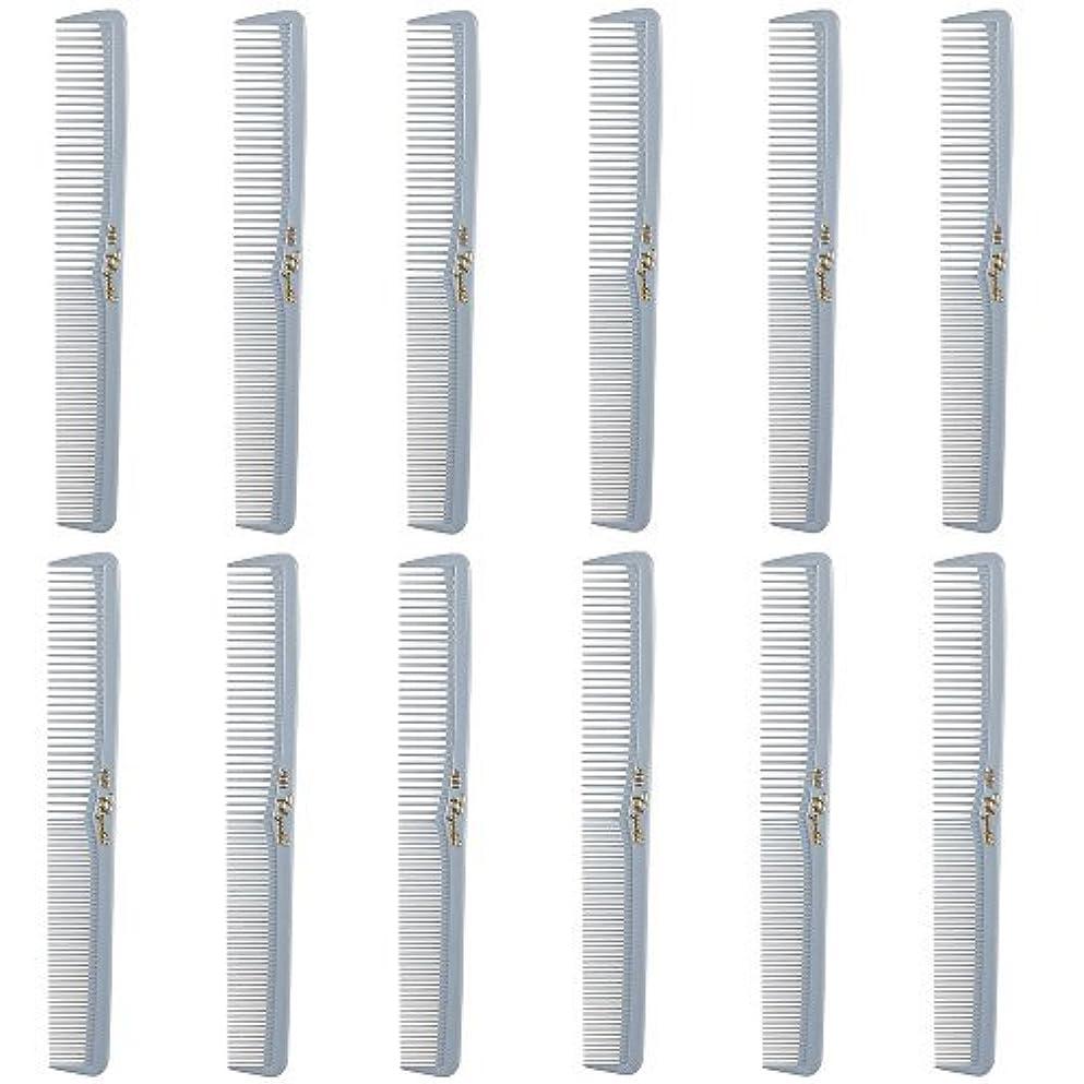 鍔更新大気Barber Beauty Hair Cleopatra 400 All Purpose Comb (12 Pack) 12 x SB-C400-LGREY [並行輸入品]