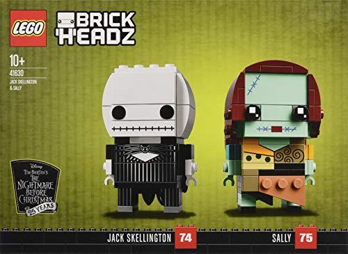 LEGO Disney The Nightmare Before Christmas Brick Headz Jack Skellington & Sally Set