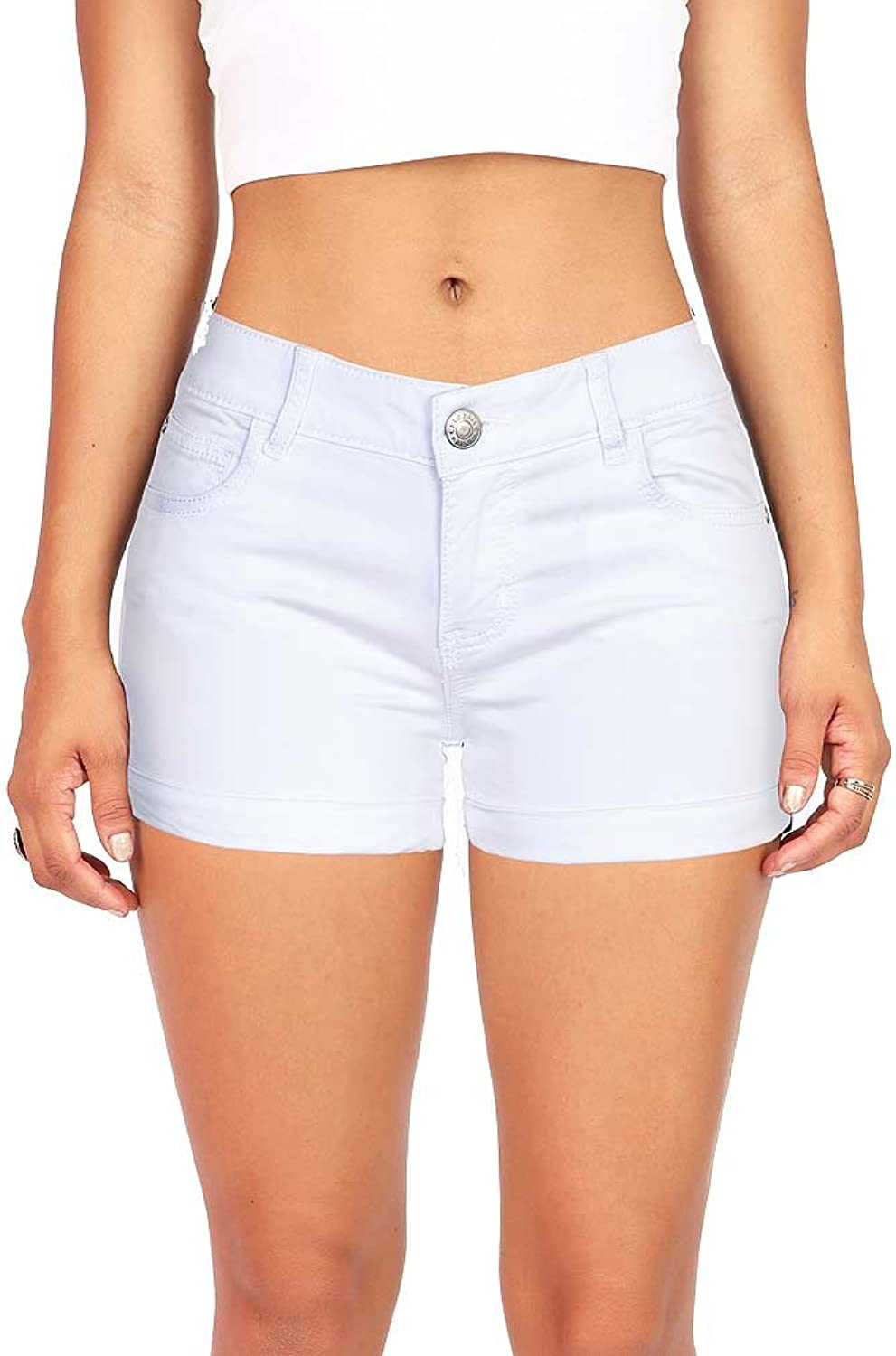 CelebrityPink Women's Juniors Low Rise Shorts with Rolled up Hem