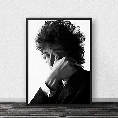 koushuiwa Poster Art Print Wall Posters Bob Dylan Smoking Music Singer Wall Art Picture Canvas Painting Ac2301 Unframed 50X70Cm