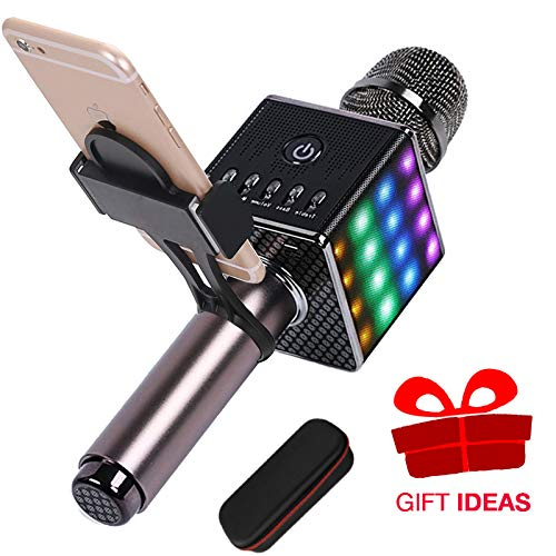 Wireless Karaoke Microphone With Smartphone Holder