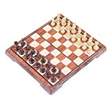 Zengqhui Conjunto de ajedrez clásico Grandes Juegos de ajedrez Tablero de ajedrez con Bolsa de Almacenamiento for Piezas de ajedrez Competencia Juego de Mesa Juego para Adultos y niños
