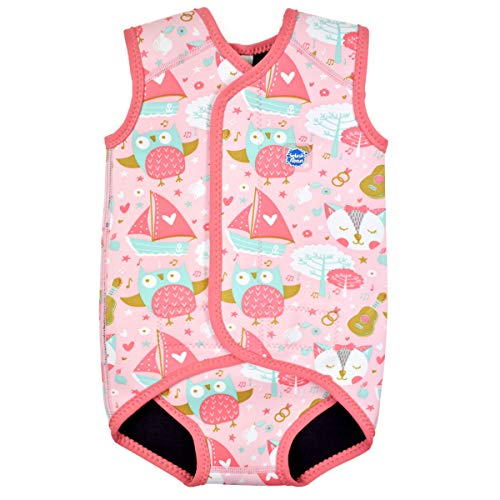 Splash About Wrap Wetsuit Unisex Baby Neoprenanzug, Owl & The Pussycat, 6-18 Monate