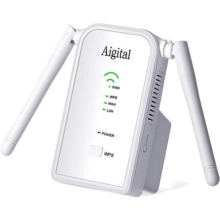 Repetidor de WiFi 300Mbps en 2.4GHz WiFi Extensor Amplificador Largo Alcance Modo Punto de Acceso/Repeater/Router con on 2 Antenas Externo, Puerto ...