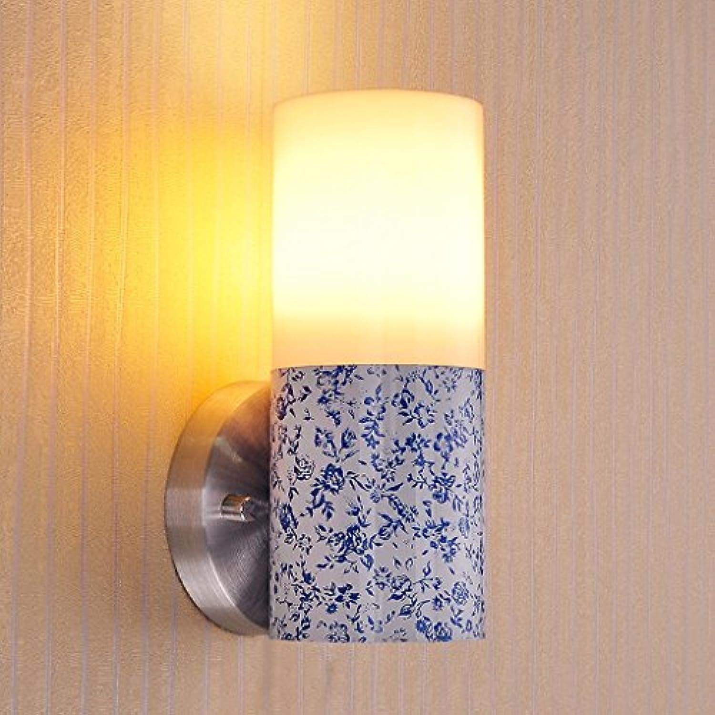 wandlampe Wandlampe Nachttischlampe 3W Wandlampe LED Wandlampe Schlafzimmer Wandlampe Korridor Lampe Schlafzimmerleuchten (Farbe   B)