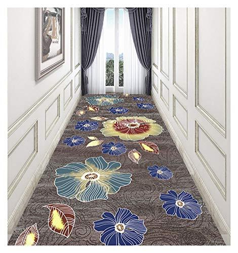 ditan XIAWU Teppich Fußabtreter Schlafzimmer Wohnzimmer Gang Kann Geschnitten Werden rutschfest (Color : A, Size : 120x800cm)