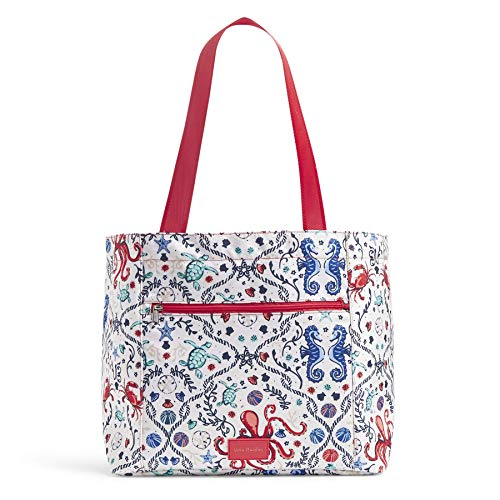 Vera Bradley Women's Recycled Lighten Up ReActive Drawstring Family Tote Totes, Sea Life, One Size