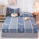 CDDKJDS 1 colchón de cama de impresión 100% algodón con cuatro esquinas y banda elástica (color: Xingshang, tamaño: 140 x 200 x 25 cm)