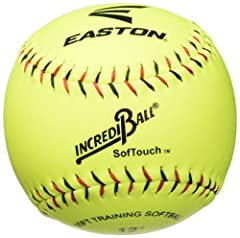 Durable ball Easton product Great for players of all caliber Contrast stitching gives pitchers and fielders a controlled grip for precise throws Unique safety core for limited flight and reduced injuries Polyurethane core with durable synthetic leath...