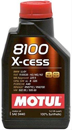 Motul 8100 X-Cess 5W-40 Synthetisches Auto-Motorenöl – Auffüllpack: 1 Liter