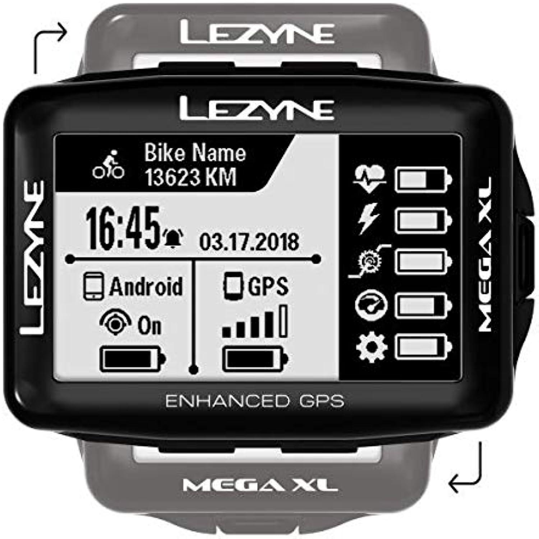 Lezyne Mega XL GPS Bicycle Computer Black