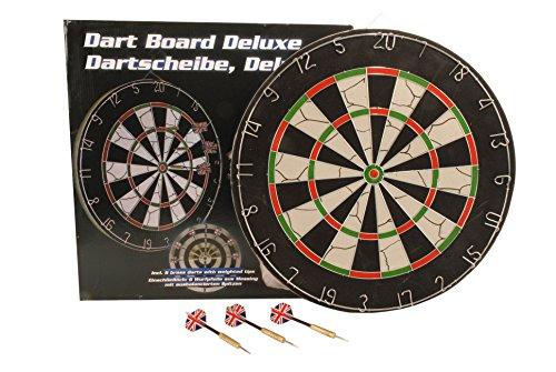 Lifetime 17881 Dartscheibe Ø 45cm beidseitig bespielbar Dartboard inkl. 6 Dartpfeile Bar/Pub/Kneipe, Schwarz