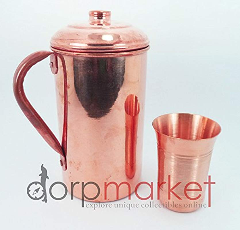 Hand Made Pure And Best Quality Copper Pitcher Jug Glass For Storing Drinking Water Ayurveda