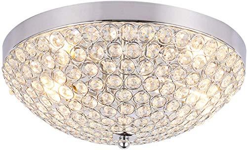 Moderne kristallen plafondlamp, 6 watt, ronde ledlamp, trendy zilver, metaal, plafondverlichting, slaapkamer, eetkamer, restaurant, woonkamer, indoor, hanglampen, warm licht, oslash, 30 cm