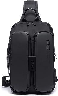 None/Brand Men'S Casual Outdoor Shoulder Bag Backpack Messenger Bag Chest Bag With Usb Port Charging Large Capacity Storag...