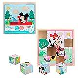 Disney - Puzzle nios 3 aos 16 cubos Puzzle infantil nios nias Puzzles juguetes educativos Primera infancia Puzzle 4 en 1 Rompecabezas Puzzle Disney Cubos 20x20 cm