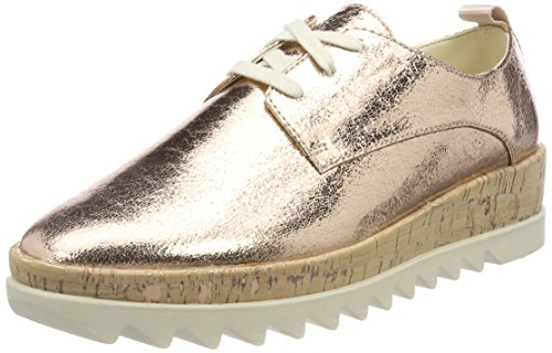 Hilfiger Denim Damen METALLIC Platform LACE UP Shoe Sneaker, Pink (Rose Gold 638), 40 EU