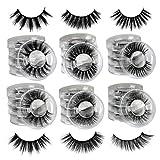 Ruairie False Eyelashes 30 Pairs 6 Styles 3D Fake Eyelashes Strip Fluffy Natural Faux Mink Lashes Pack Wholesale