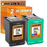 Gorilla-Ink 2 Druckerpatronen kompatibel mit HP-336XL & HP-342XL   1x Black & 1x Color je 15ml Inhalt
