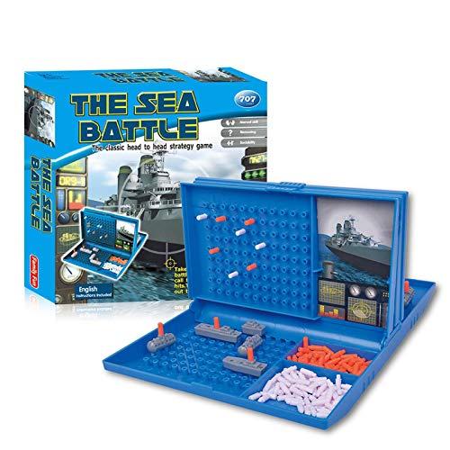 Tacey Naval Strike Brettspielset - Sea Battle Brettspiel Für Kinder - Traditionelle Strategie Brettspiele Mit Schlachtschiffen, U-Boot Und Flugzeugträger Spielzeug