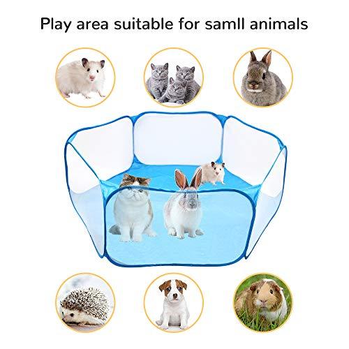 Urijk Faltbarer Kleintier Laufstall Meerschweinchen Hamster Atmungsaktives Zelt Übungszaun Tragbarer Hofzaun Haustier Ozean Ball Pool für Kaninchen Chinchillas Igel Welpen Katzen