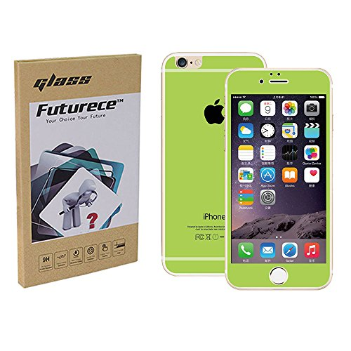 """Sugar Green Colorful Tempered Glass Screen Protector For iPhone 6 / iPhone 6S Security Guard Film Extreme Clarity Shield Anti Scratch Bubble Fingerprint Resistant Explosion Proof Oleophobic 4.7""""Screen"""