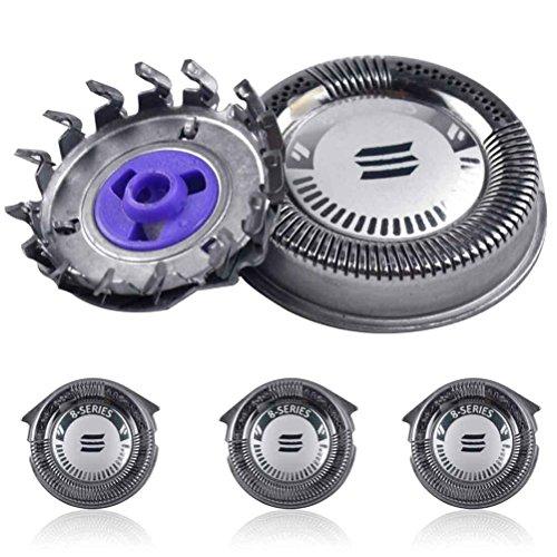 Supvox 3 Stück Ersatzköpfe kompatibel mit Norelco HQ8 / HQ8894 / HQ7160 Rasierer (Silber)