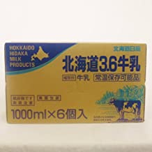 北海道日高 北海道 3.6牛乳 常温保存可能品 1L×6パック 1ケース
