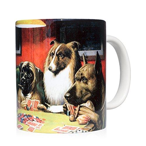 We Love Art Taza mug Desayuno de cerámica Blanca 32 cl. con impresión de Obra de Arte Un Farol Autor C.M. Coolidge