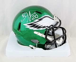Brian Dawkins Autographed Mini Helmet - Chrome W Auth - JSA Certified - Autographed NFL Mini Helmets