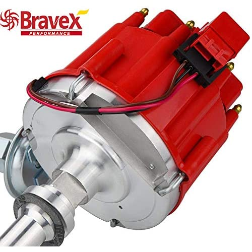 SBC Bbc Small Block Chevy Hei Distributor Extreme 65k Coil Red 350 383 454