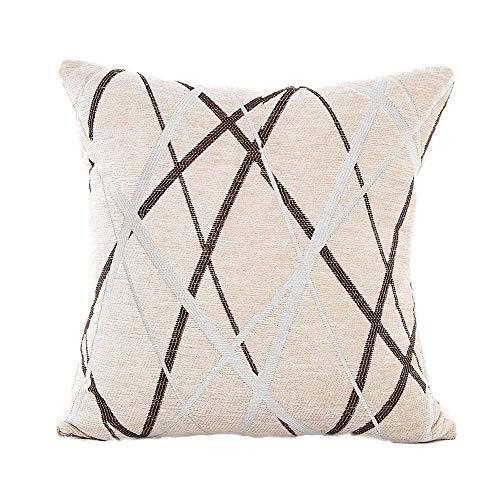UYSDF Stilvoll Einfachheit Polyester Polster Abdeckung Sofa Werfen Kissen Fall Zuhause Dekor,45 * 45 cm Kissenbezug