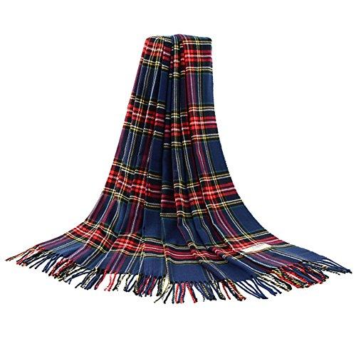 Signare Mujeres Tartán de la bufanda para el invierno - Armada Stewart