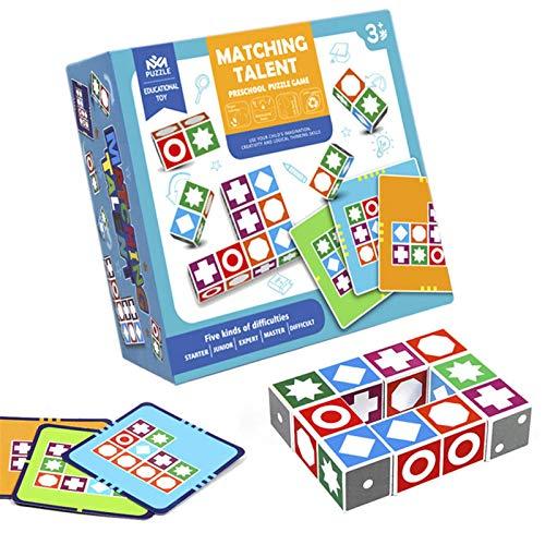 JHDS Match Games, Matching Master Puzzle, Juego de Mesa de emparejamiento, Ejercicio de Pensamiento y Habilidades de Aprendizaje, Juegos de Mesa Populares para niños y niñas y Sus Padres