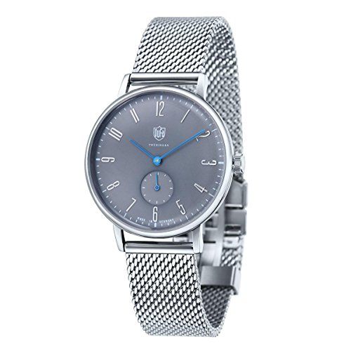 DuFa Unisex Analog Quarz Uhr mit Edelstahl Armband DF-9001-13