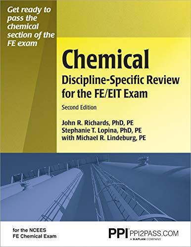 Ppi Chemical Discipline-Specific Review for the FE/EIT Exam, Second Edition (Paperback) - A Comprehensive Review Book for the Ncees Fe Chemical Exam
