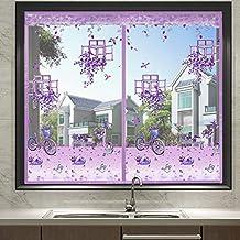 ALQFHFY Vliegschermen voor ramen, rits Insect Mesh Window Insect Screen kan worden gesneden om te passen zonder boren, met...