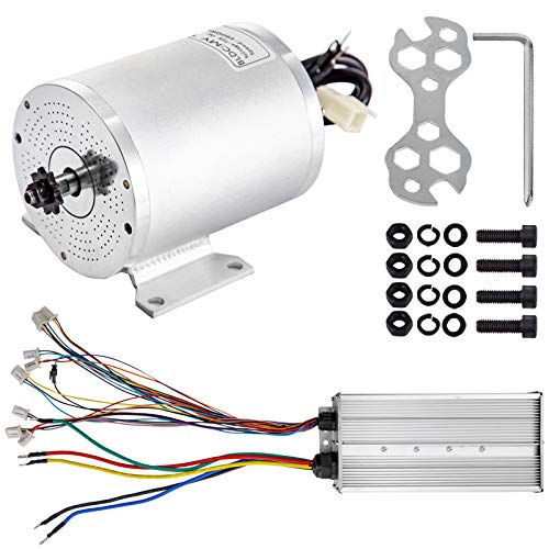 BestEquip 3000W 72V Brushless Motor 42A 4900RPM High Speed Electric Scooter Motor with Mounting Bracket and Speed Controller for Mini Bike Quad and Go-Kart