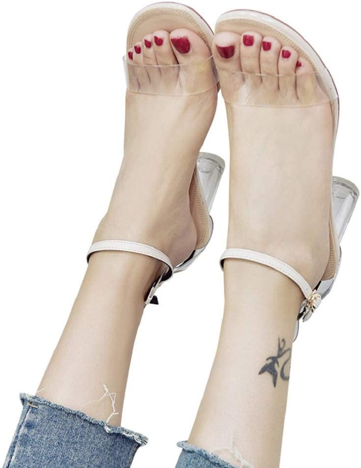 Sandals for Women Bummyo Fashion Open Heel New Inexpensive color Transp Toe High