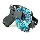 Infused Kydex USA Kryptek Pontus IWB Hybrid Concealed Carry Holster (Right-Hand, Fits Glock 43)