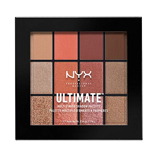 NYX Professional Makeup Ultimate Multi-Finish Shadow Palette, Lidschatten-Palette, Warm Rust 08